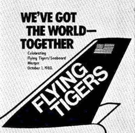1980 Flying Tigers merges with Seaboard World